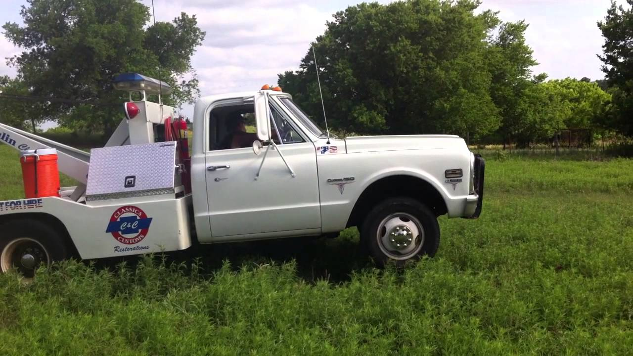 All Chevy 1965 chevy c30 : 72 Chevy C30 wrecker doing some work - YouTube