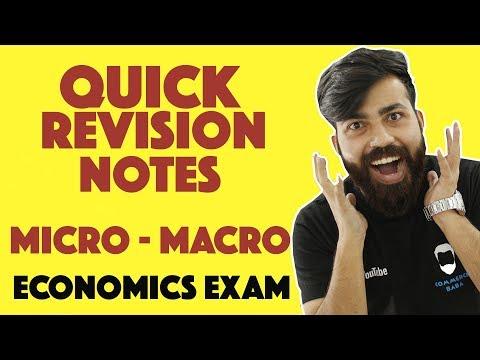 Quick Revision Notes & Most Important Questions - Economics #commercebaba