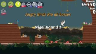 Angry Birds Rio All boss battles