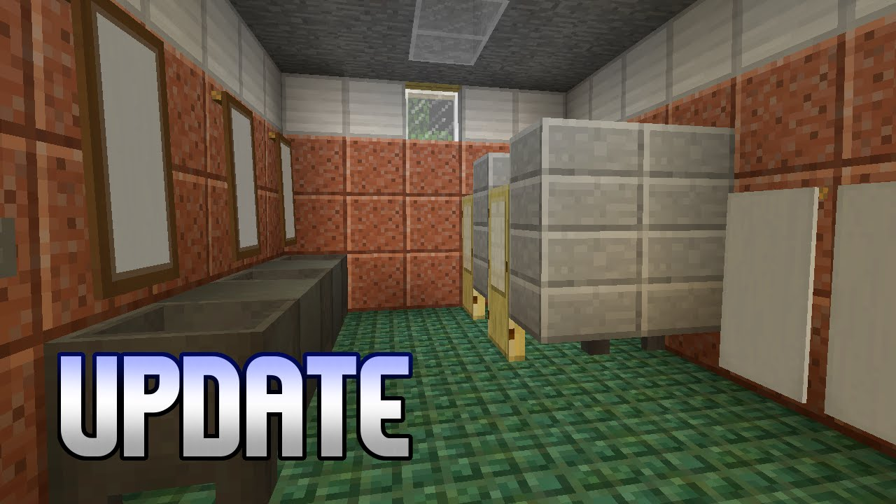 Minecraft restroom parking update realistic for Bathroom designs minecraft