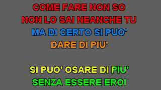 Karaoke - Morandi Ruggeri Tozzi - Si Puo Dare Di Piu ( cori ).flv