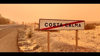 Calima / kalima. Costa Calma, Fuerteventura. 22.02.2020