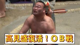 ロボコップ復活!元高見盛 OB力士取組 対豊真将戦 第40回大相撲トーナメント