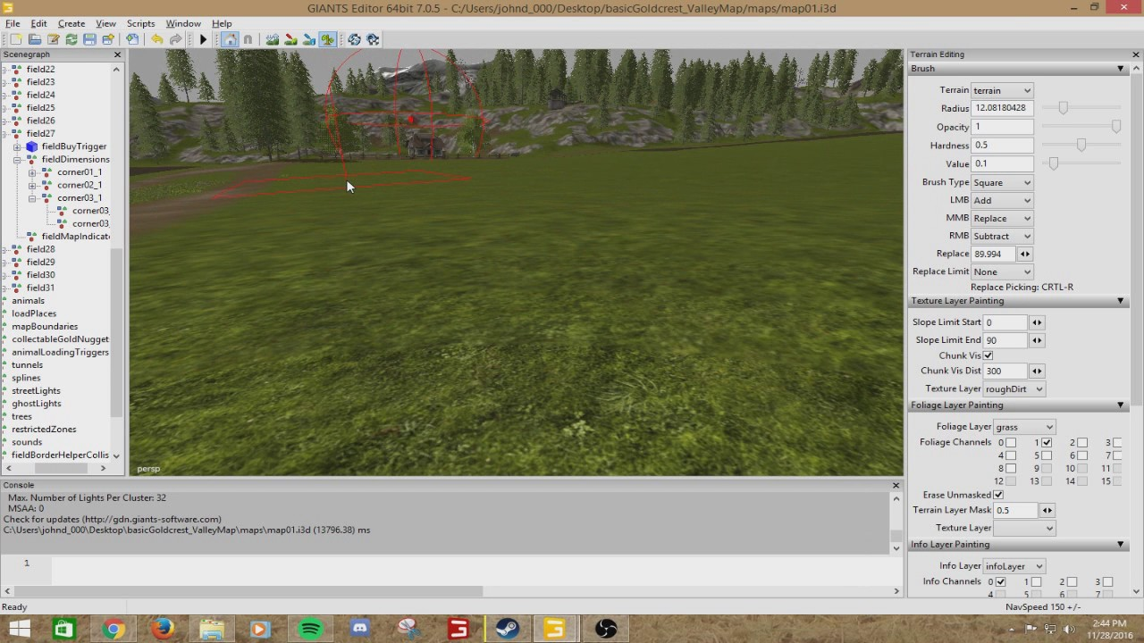 How To Edit The Base Map (Goldcrest Valley) In Farming Simulator 17