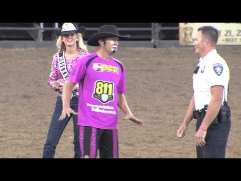 Fiesta Days Rodeo Clown and Dancing Cop