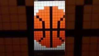 Видеоурок как рисовать баскедбольный мяч по клеточкам