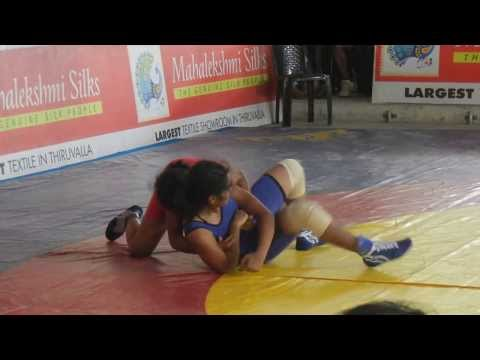 BCM College girl in Kerala State Wrestling competitions- 2013