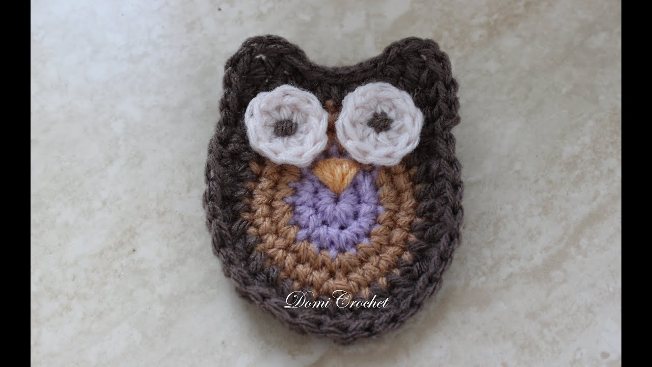 Crochet owl applique youtube bankloansurffo Image collections
