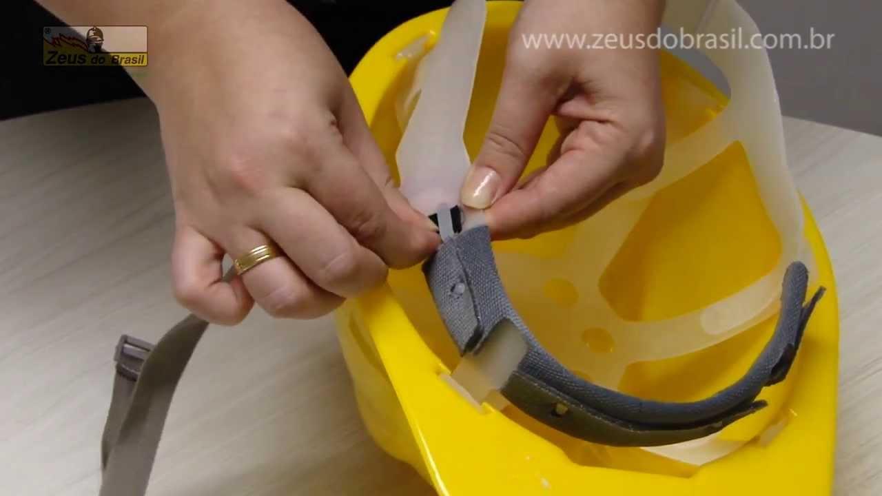 Zeus do Brasil - Aplicando a jugular em capacete de segurança Pro Safety -  YouTube e9da4f9c2b