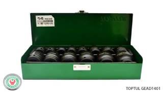 Обзор набора ударных дюймовых головок  Toptul GEAD1401 на 14 предметов