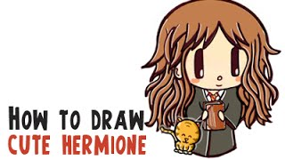 how to draw hermione granger step by step realistic