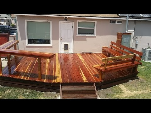 Redwood deck with built-in benches and bar<a href='/yt-w/1V5kKRX6QDk/redwood-deck-with-built-in-benches-and-bar.html' target='_blank' title='Play' onclick='reloadPage();'>   <span class='button' style='color: #fff'> Watch Video</a></span>