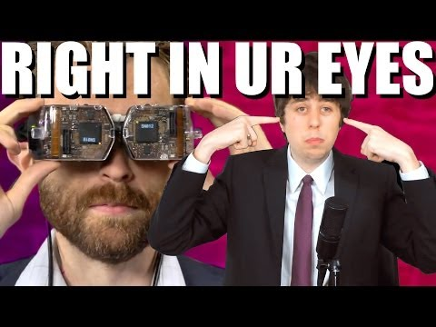NEW VR HEADSET BEAMS DIRECTLY INTO YOUR EYEBALLS!!