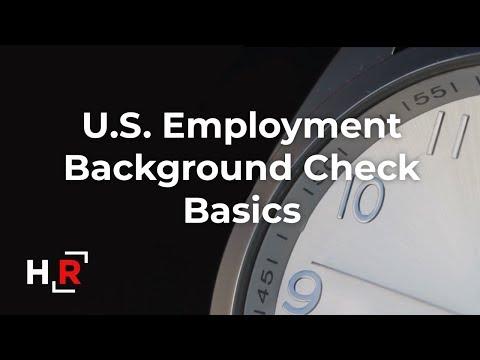 US Background Check Basics 2019