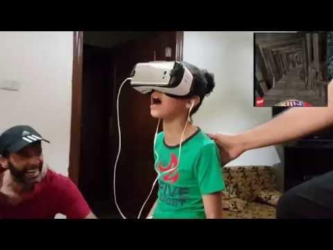 Get Funniest Reaction Ever  - أجمل ردة فعل في العالم لطفلة تشاهد العالم الافتراضي لأول مرة Images