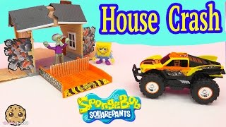 Spongebob Square Pants New Hot Wheels Truck Monster Reward Stunt FX - House Crash Playset