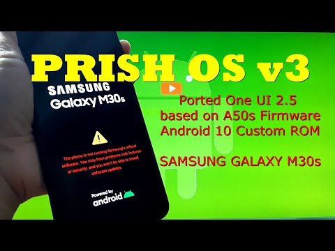 PRISH OS v3 OneUI 2.5 for Samsung Galaxy M30s Android 10