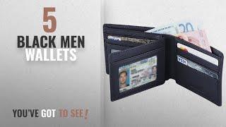 Top 10 Black Men Wallets [ Winter 2018 ]: Hoobest RFID Blocking Genuine Leather Wallet for Men