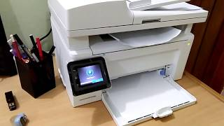HP Laser Jet Pro MFP M130fw Copy Test ADF Scanner