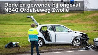 Dode en gewonde bij ongeval N340 Ordelseweg Zwolle - ©StefanVerkerk.nl