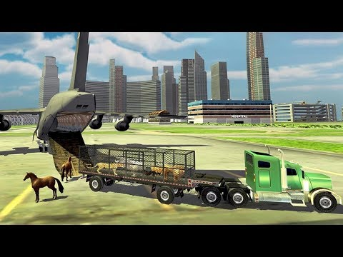 Zoo Animal Transport Truck 3D Airplane Transporter (by Kick Time Studios) Android Gameplay [HD]