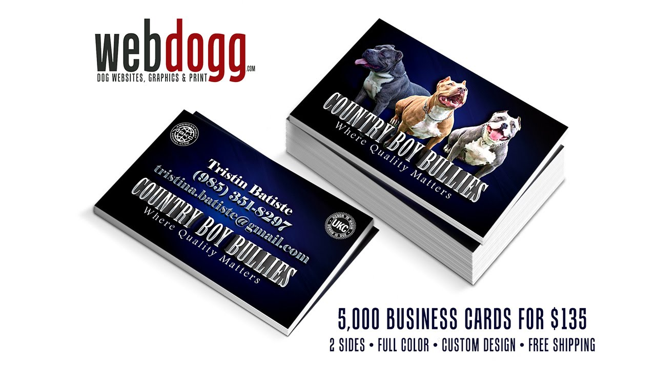 5,000 Business Cards - Dog Kennel, Dog Exhibitor, Dog Breeder - YouTube