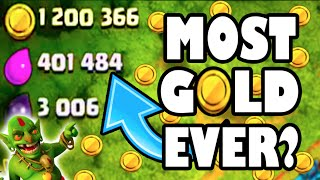 """Clash of Clans - LOOK AT THE LOOT! """"MOST GOLD I'VE EVER SEEN!"""" Titan's League Epic Loot & Trophies!"""