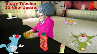 Scary Teacher 3D New Update (Hindi OGGY Voice) Oggy Jack And Cockroaches Funny Dubbing