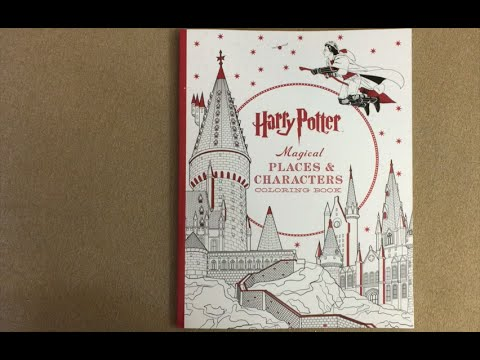 - Harry Potter Magical Places Coloring Book Flip Through - YouTube