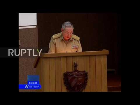 Cuba: Raul Castro honours his late-brother Fidel at National Assembly tribute