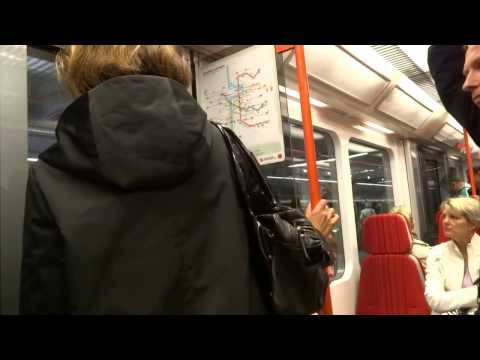 Ride in the subway - Prague, Czech Republic