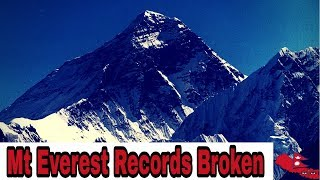 People Who Broke Mount Everest Records