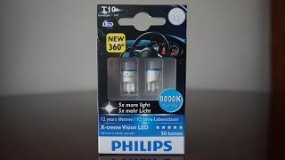 philips x tremevision led t10 w5w 8000k