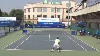 Siddharth Vishwakarma v/s Garvit Batra Pre-Quarters National Tennis Tournament INDIA 2015
