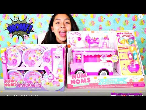 OPENING TOYS!! Num Noms Snackables Collectible Cereal Entire Box|B2cutecupcakes