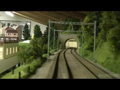 Impressive cab ride through beautiful model railway in O scale