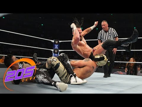 The Lucha House Party vs. Mike Kanellis & TJP - Tornado Tag Team Match: WWE 205 Live, Dec. 5, 2018