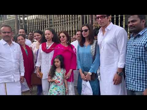 Actor Sonu Sood with his wife and other family members at Tirumala Temple