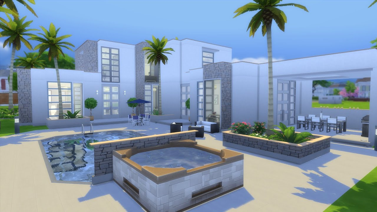 Modern mansion sims 4 build part 1 youtube for Modern house 8 part 10