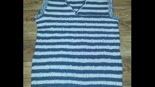 Вязанный крючком  мужской жилет (crochet knitted men's vest)