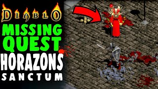DIABLO CUT CONTENT: Horazon's Secret Sanctum FOUND! Diablo 1 Lore