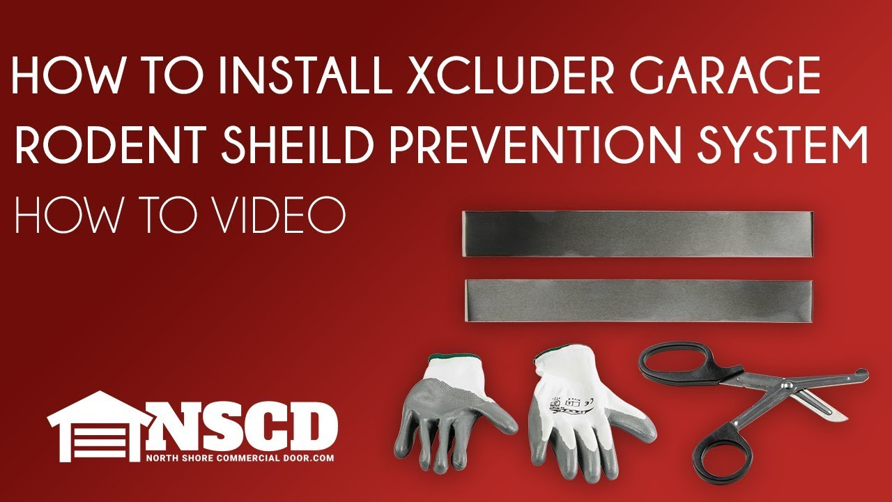 How To Install Xcluder Garage Door Rodent Shield Pest