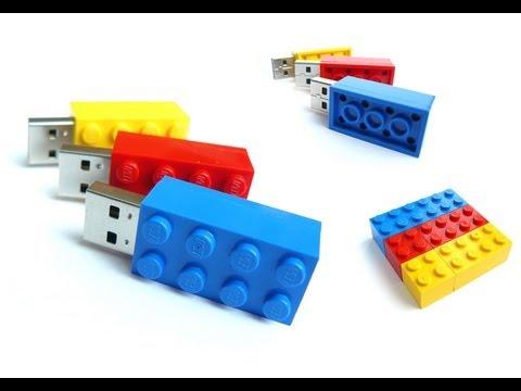 handmade USB Memory Stick in a original LEGO® Brick 2x2 and 2x4 ...