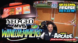 Windjammers (Flying Disc) Arcade Review - Original NEO GEO MVS Arcade Game