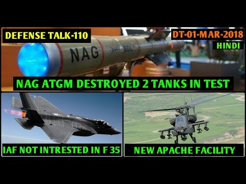 Indian Defence News,NAG Destroyed 2 Tanks in Trial,S 500 Production,IAF Denies F 35,Apache Facility
