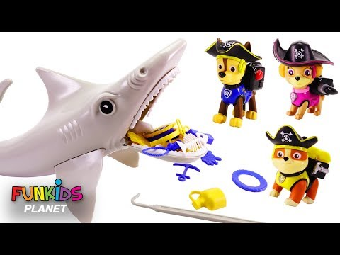 Learning Colors with Paw Patrol Shark Family Finger Song Nursery Rhyme