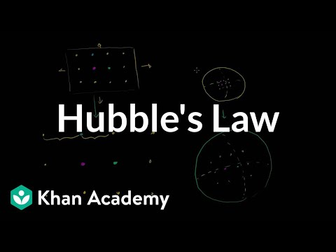 Hubble's law   Scale of the universe   Cosmology & Astronomy   Khan Academy