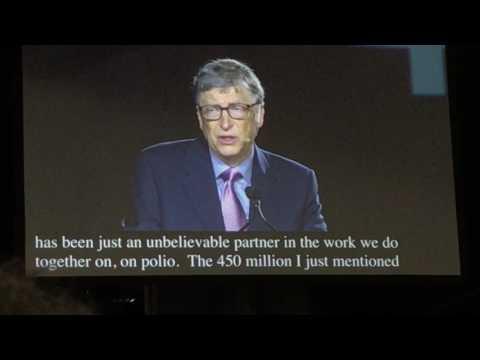 Bill Gates at the Rotary