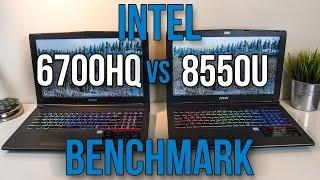 8550U vs 6700HQ - Laptop CPU Comparison and Benchmarks