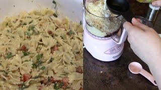 Homemade Caesar & Tomato Basil Pesto Pasta Salad (5.13.2015 - Day 159)
